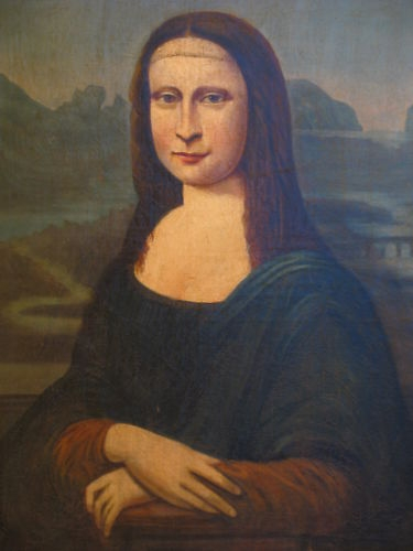 18TH CENTURY MONA LISA OLD MASTER PORTRAIT PAINTING OIL ON CANVAS EUROPEAN SCHOOL IN OAK HAND CRA...