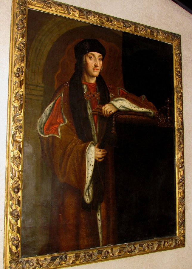 Important 17thc Oil Portrait King Henry VII AFTER HOLBEIN THE YOUNGERS Whitehall Palace Tudor Dyn...