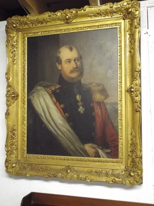 FINE OIL PORTRAIT OF PRINCE CONSTANTINE OF WALDBURG ZEIL TRAUCHBURG OF GERMANY BORN 1807 DIED 186...