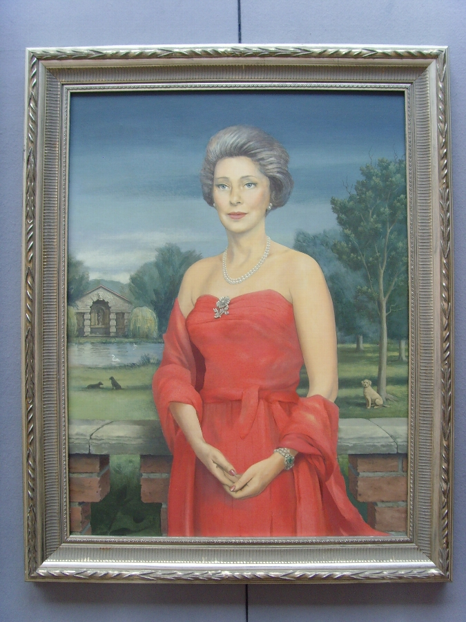 FINE OIL PORTRAIT PAINTING OF LADY FRANCES BRADLEY OF PURLEY HALL BERKSHIRE BY ARTIST TIMOTHY WHI...