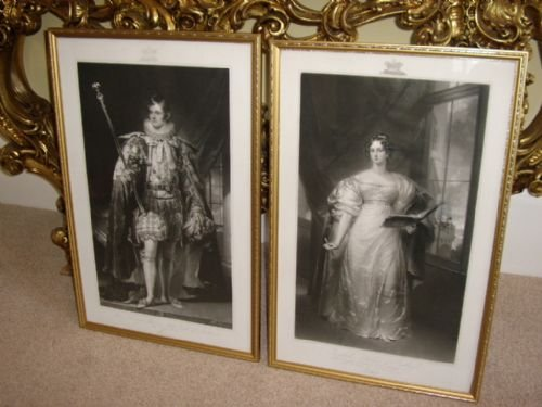 PORTRAITS OF DUKE AND DUTCHESS OF RUTLAND AFTER ORIGINAL PAINTINGS BY GEORGE SANDERS AND LATER PU...