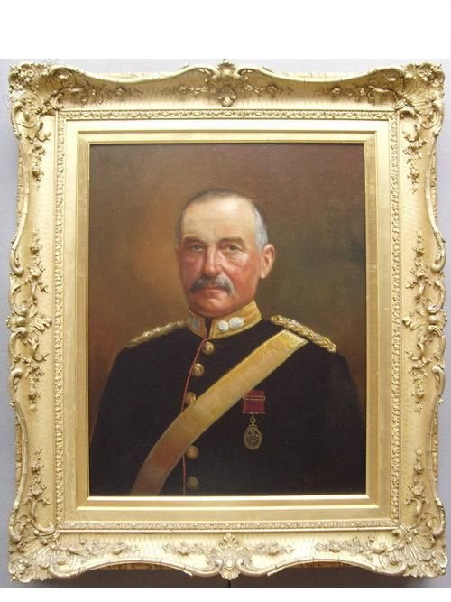 19THC.OIL PORTRAIT COLONEL STANLEY ARNOLD BY EUGEN SCHWARZ Commanding Officer of Lancashire Royal...