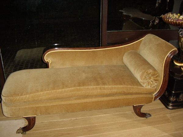 Antique REGENCY CHAISE LOUNGE