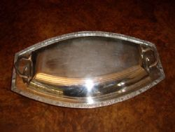 Antique SILVER PLATED VEGETABLE TAUREEN BOAT SHAPED WITH LID