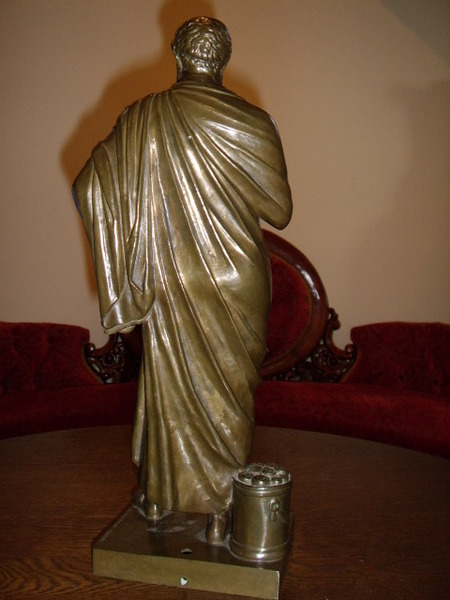 Antique BRONZE SCULPTURE OF SOPHOCLES BY F.BARBEDIENNE FOUNDRY