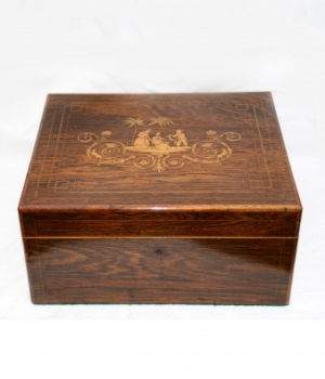 Antique 19th Century Rosewood Jewellery Box
