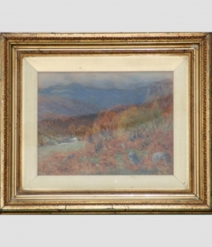 Antique 1906 Watercolour entitled Late Autumn by W S Winder
