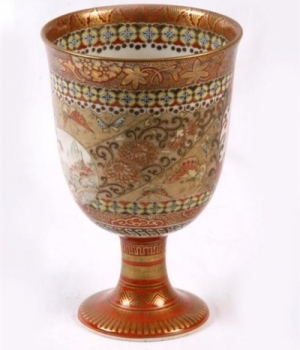 Antique 19th century Japanese Kutani Goblet