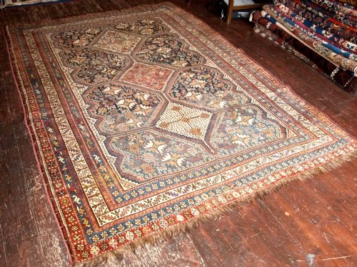 Antique ANTIQUE PERSIAN QASHQAI CARPET, SHIRAZ REGION, CIRCA 1900/10