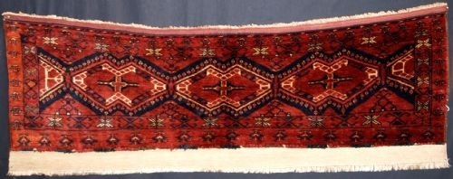 Antique ANTIQUE ERSARI BESHIR TURKMEN TORBA, FULL PILE, CIRCA 1900.