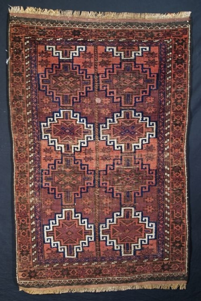 Antique ANTIQUE BALUCH SMALL RUG, GOOD DESIGN, CIRCA 1900