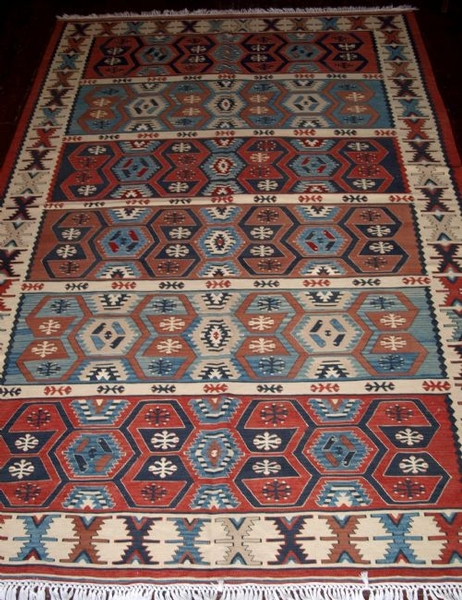 Antique OLD TURKISH ANADOLU REGION KILIM, PERFECT CONDITION
