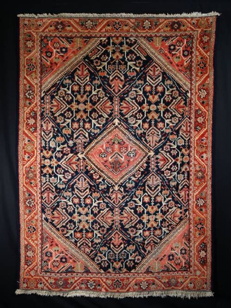 Antique ANTIQUE PERSIAN MAHAL RUG, GREAT FURNISHING RUG 1900-20