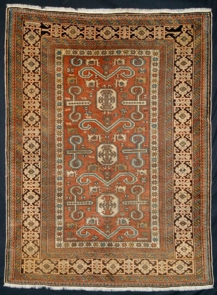 Antique ANTIQUE CAUCASIAN PEREPEDIL RUG, LATE 19TH CENTURY.