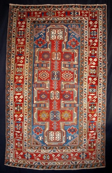 Antique ANTIQUE EAST CAUCASIAN SHIRVAN RUG, 4TH QUARTER 19TH CENTURY.
