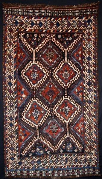 Antique ANTIQUE PERSIAN LURI TRIBAL CARPET, SUPERB, CIRCA 1910/20.