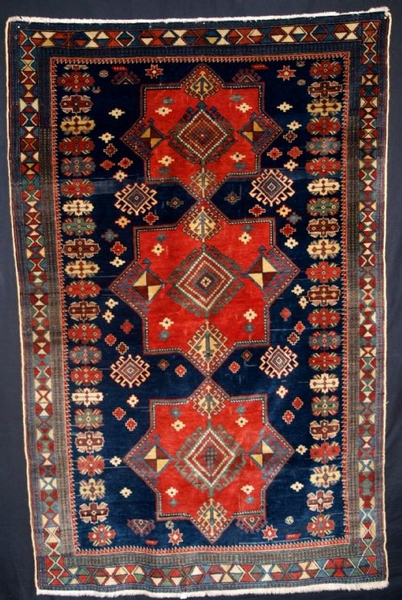 Antique ANTIQUE CAUCASIAN ERIVAN RUG, GREAT DESIGN, CIRCA 1920.