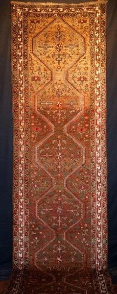 Antique ANTIQUE KURDISH RUNNER, CAMEL WOOL FIELD, CIRCA 1900-20