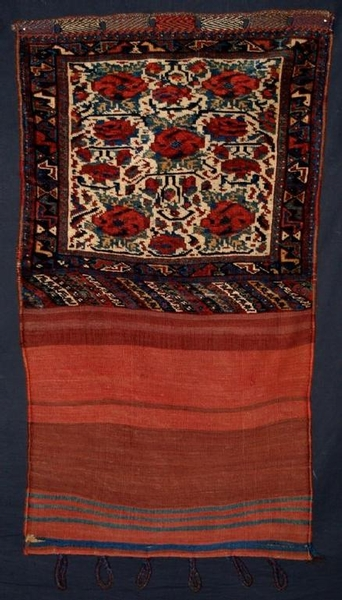 Antique ANTIQUE KHAMSEH KHORJIN WITH PLAIN WEAVE BACK, CIRCA 1900