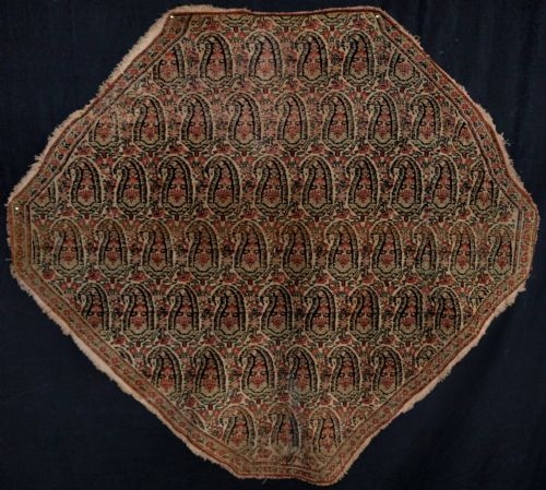 Antique ANTIQUE PERSIAN SENNEH SADDLE COVER, VERY FINE, LATE 19TH CENTURY