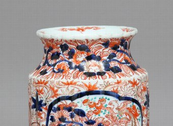 Antique Pair 19th Century imari vases
