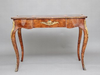 Antique 19th Century walnut and inlaid writing table