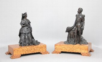 Antique A pair of 19th Century French bronzes
