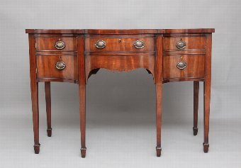 Antique Early 19th Century mahogany serpentine sideboard