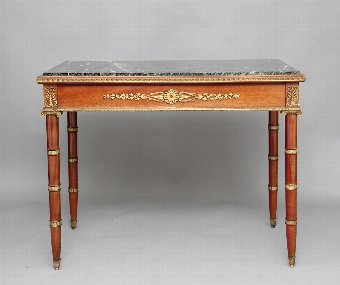 Antique 19th Century mahogany and ormolu mounted center table