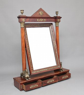 Antique A large 19th Century French Empire dressing mirror