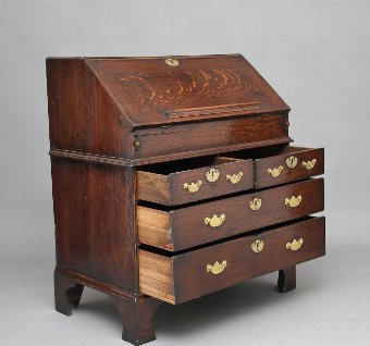 Antique 18th Century oak bureau