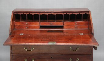Antique 18th Century mahogany bureau