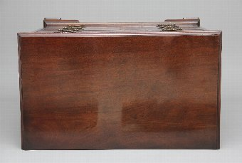 Antique 18th Century mahogany chest with brushing slide