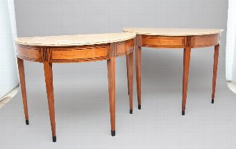 Antique A pair of early 19th Century Italian consul tables