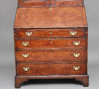 Antique 18th Century oak bureau bookcase