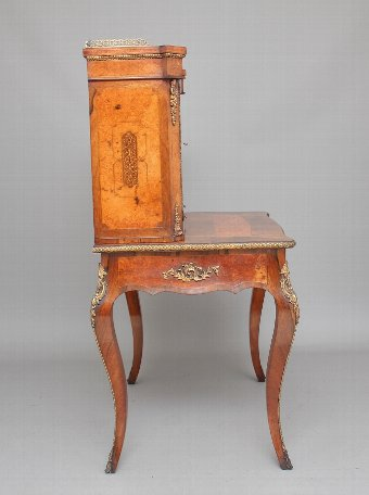 Antique 19th Century rosewood and amboyna bonheur du jour