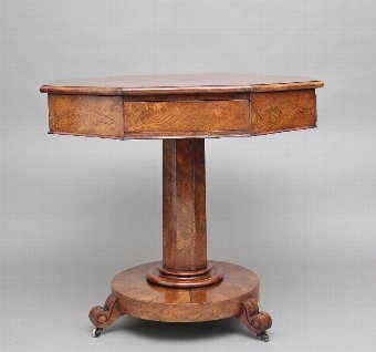 Antique Early 19th Century pollard oak drum table