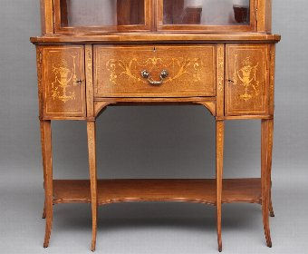 Antique 19th Century mahogany inlaid display cabinet