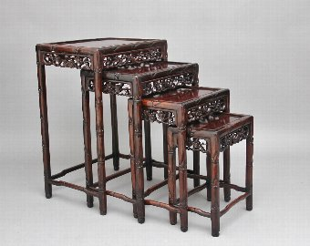 Antique 19th Century Chinese nest of four tables