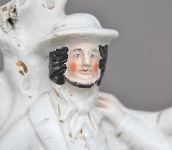 Antique 19th Century Staffordshire figure of the murder of Thomas Smith