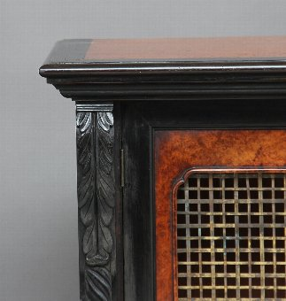 Antique 19th Century ebony and amboyna cabinet