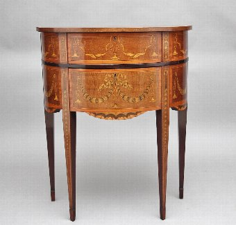 Antique 19th Century mahogany inlaid side table