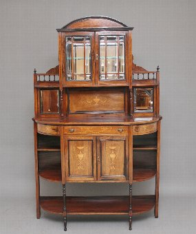 Antique 19th Century rosewood and inlaid cabinet
