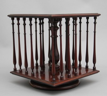 Antique 19th Century mahogany revolving bookstand