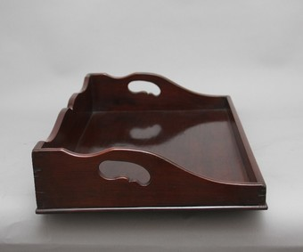 Antique Large early 19th Century mahogany tray