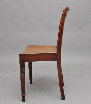 Antique set of four early 19th Century mahogany side chairs