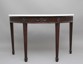 Antique 18th Century mahogany and marble top consul table