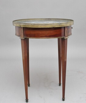 Antique 19th Century mahogany and marble top occasional table