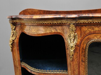 Antique 19th Century burr walnut credenza