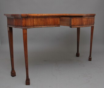 Antique Early 19th Century satinwood serpentine serving table